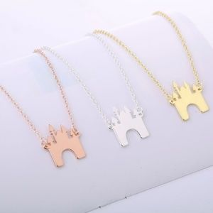 🌟2 for 25$🌟Castle Necklace,Rose Gold,Silver&Gold